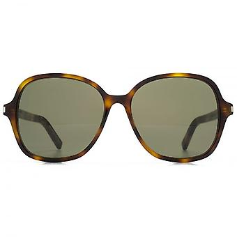 Saint Laurent Classic 8 Sunglasses In Havana Green