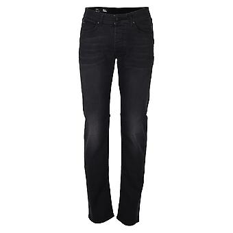Roy Roger's men's 529DELUXERAGAN black cotton of jeans