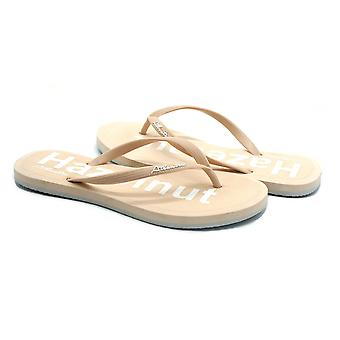 Atlantis Shoes Women Supportive Cushioned Comfortable Sandals Flip Flops Simply Colorful Hazelnut Beige