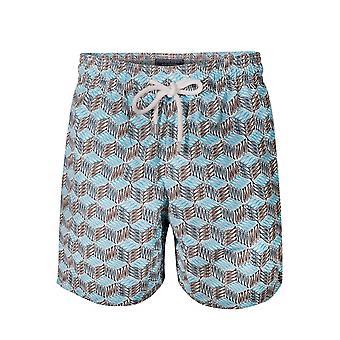 Vilebrequin Vilberequin Moorea Azur Diagonale Fische schwimmen Shorts