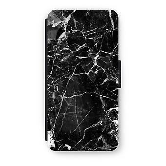 iPhone 7 Flip Case - Black Marble 2