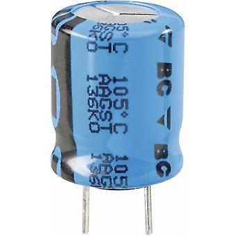 Electrolytic capacitor Radial lead 5 mm 220 µF 35