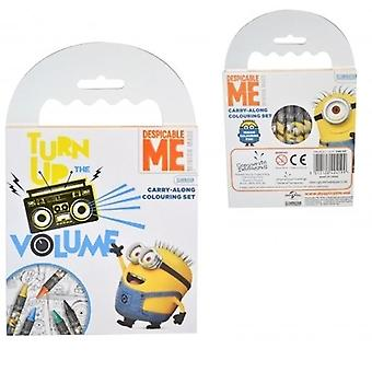 Minions carry along colouring set
