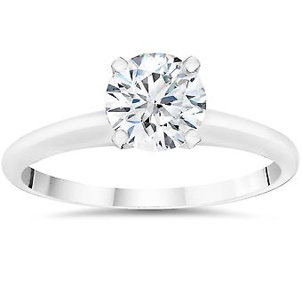 1ct Round Diamond Solitaire Engagement Ring (Clarity Enhanced)