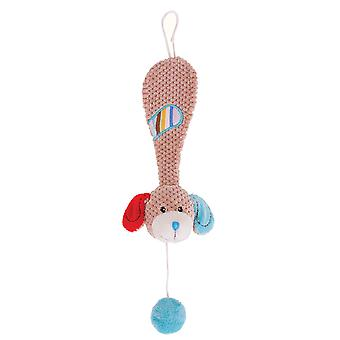 Bigjigs Toys Soft Plush Bruno Dummy Chain Cot Pram Newborn Sensory