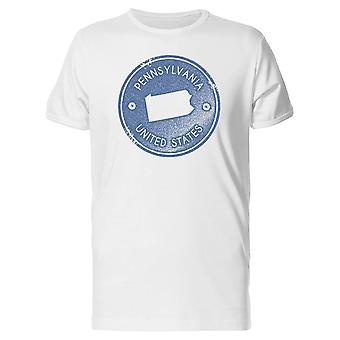 Pennsylvania Map United States Tee Men's -Image by Shutterstock