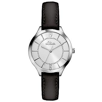 s.Oliver women's watch wristwatch leather SO-3360-LQ
