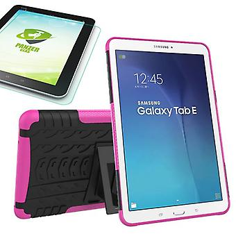 Hybrid outdoor bag Pink for Samsung Galaxy tab E 9.6 SM T560 + 0.4 tempered glass