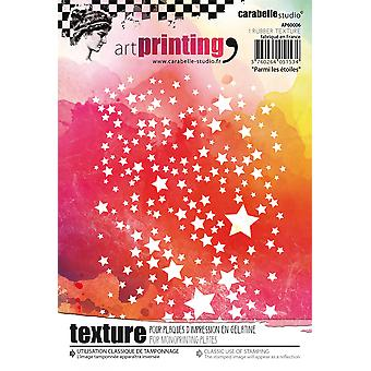 Carabelle Studio Art Printing A6 Rubber Texture Plate-Among The Stars
