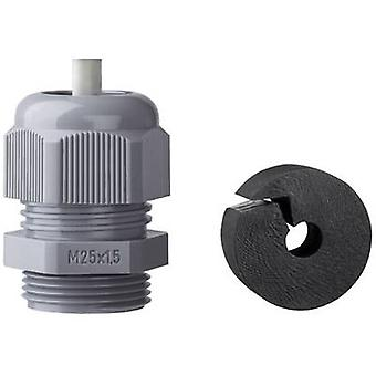 Cable gland with strain relief M25 Polyamide Silv