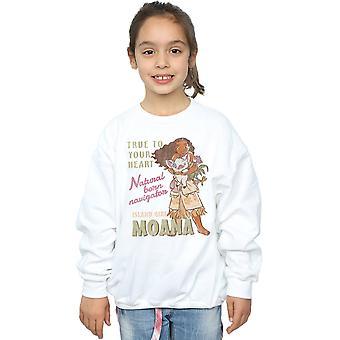 Disney Mädchen Moana Natural Born Navigator Sweatshirt