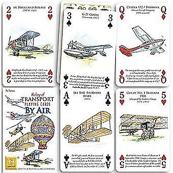 Geschichte des Verkehrs durch Luft Satz von 52 Spielkarten + Joker)