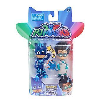 Pj Masks Light Up 2 Pack Hero & Villan - Catboy & Romeo