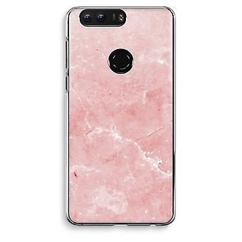 Honor 8 Transparent Case (Soft) - Pink Marble