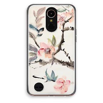 LG K10 (2017) gennemsigtig sag (Soft) - Japenese blomster