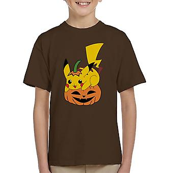 T-shirt do Halloween Pikachu Pokemon filho