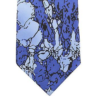 Sorrento Stain Glass Effect Tie - Blue/Light Blue/Black