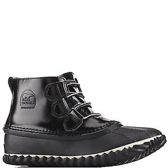 Womens Sorel Out N About Rain Patent Leather Winter Waterproof Ankle Boot