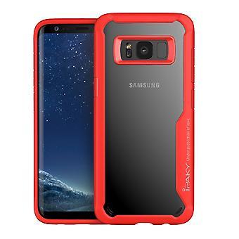 IPAKY Samsung Galaxy S8 Plus TPU Hybrid Shell-rød