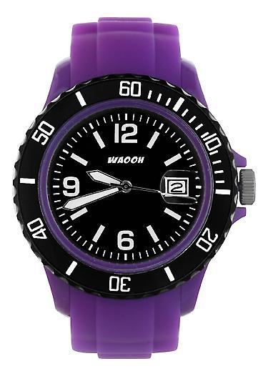 Waooh - Watch Dial & Bezel MONACO38 Violet Color