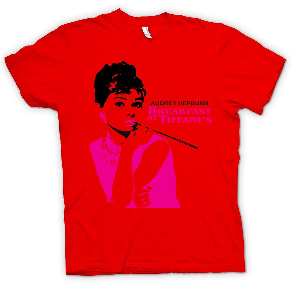 Heren T-shirt-Audrey Hepburn Tiffanys - film