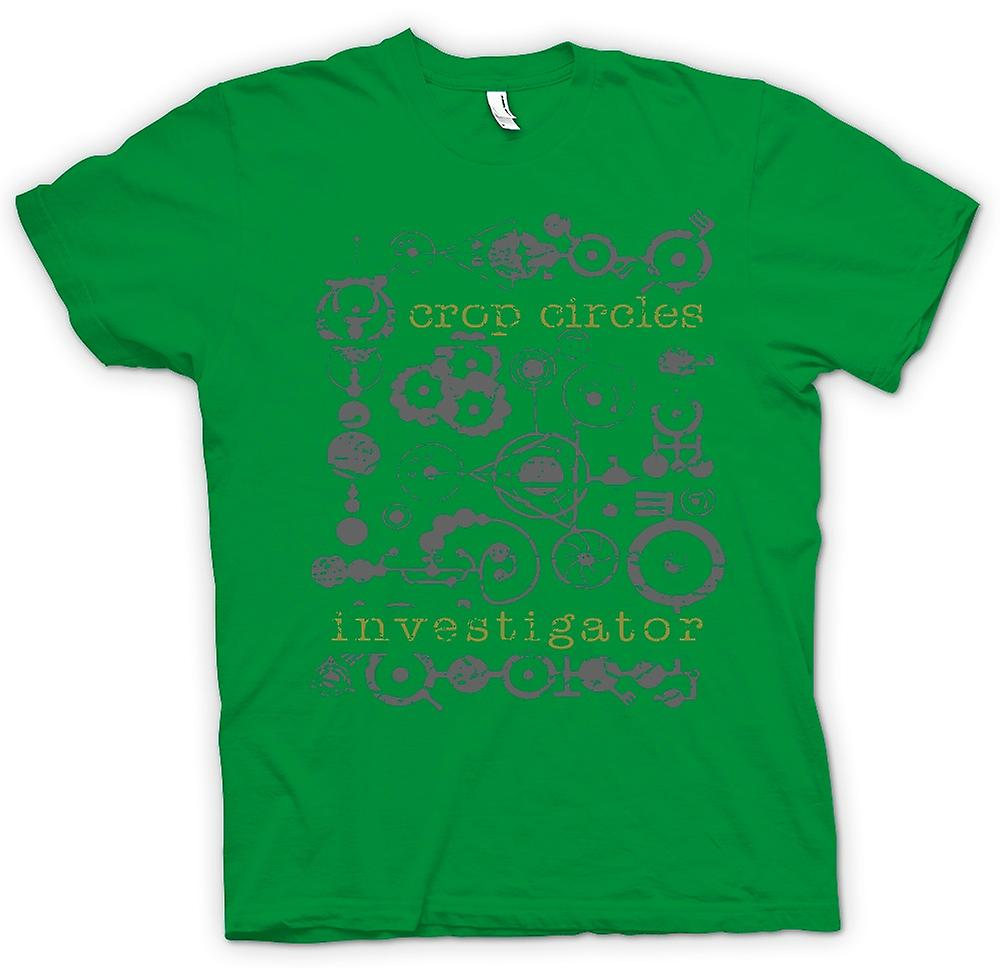 Mens T-shirt - Crop Circles Investigator - UFOs - Aliens - Unexplained