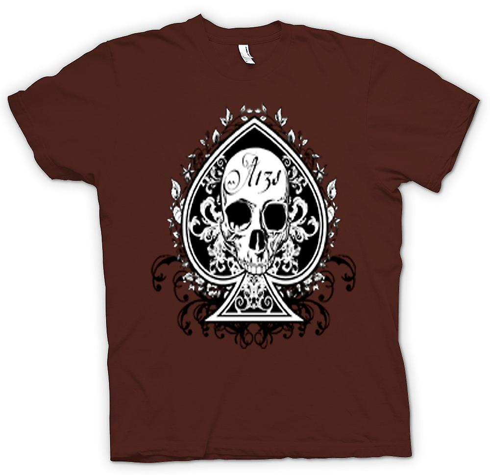 Heren T-shirt-schedel ons Biker Ace Of Spades
