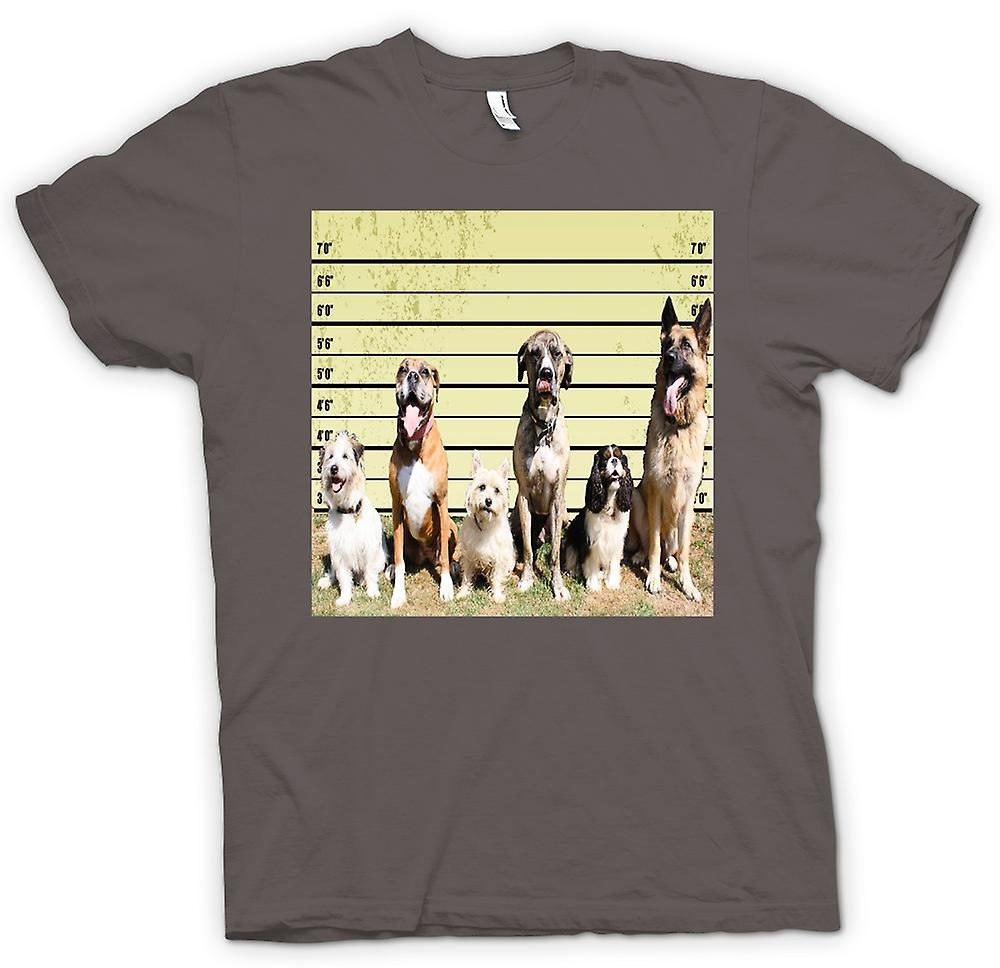 T-shirt-Pet Dog Police Line Up