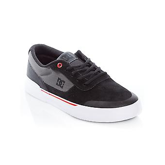 DC Black-Athletic Red-White Switch Plus Skate Series Shoe