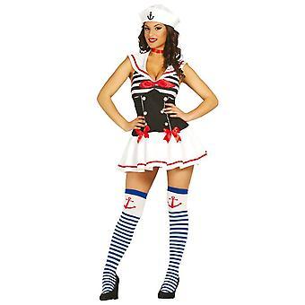 Womens Little Sailor vrouw Fancy Dress kostuum
