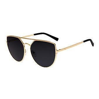 Eenenzestig zwijnen gepolariseerde zonnebril - goud/zwart