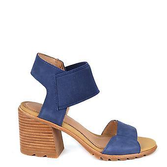 Sorel Nadia blå högklackade sandaler