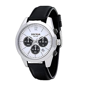 Sector Chronograph quartz men's watch with leather R3271786007