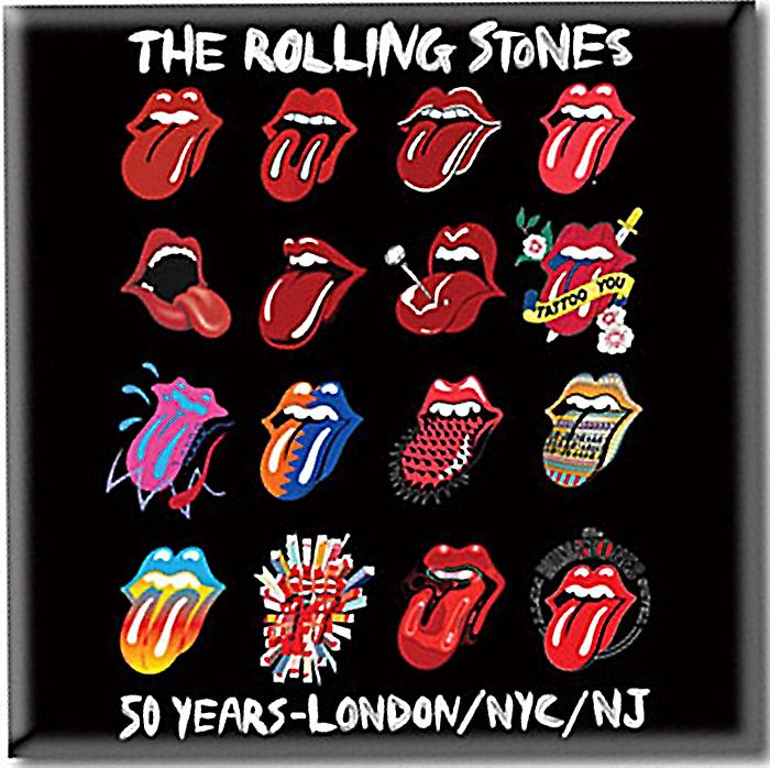 Rolling Stones Tongue Evolution steel fridge magnet     (ro)
