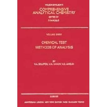 Chemical Test Methods of Analysis by Zolotov & Yuri A.