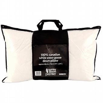 Canadian White Snow Goose Down Pillow