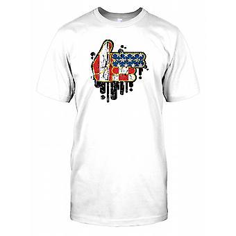 USA pistolet pistolet Hand - fajny Design dla dzieci T Shirt
