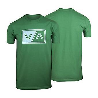 RVCA Mens VA Sport VA Tab T-Shirt - Green/Sky Blue
