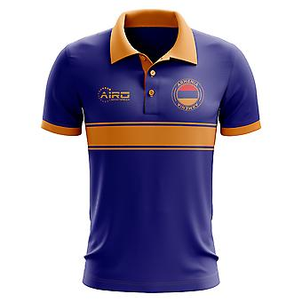 Armenia Concept Stripe Polo Shirt (Royal)
