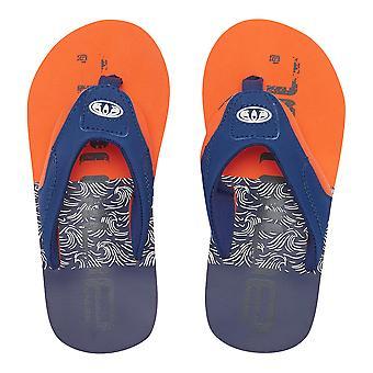 Animal Boys Jekyl Logo Flip Flops | Firecracker Orange