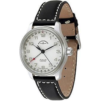 Zeno-watch montre NC pointeur rétro date 9554Z-e2