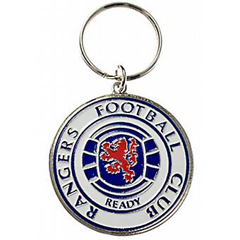 Rangers Football Club Metall / Emaille Keyring (Spg)