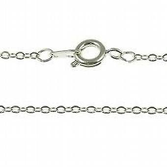 TOC Girls Sterling Silver Fine Trace Chain Necklace 14 Inch