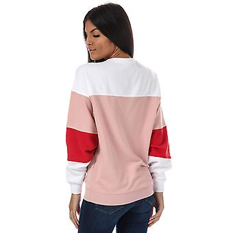 Womens Only Gigi Colourblock Crew Neck Sweatshirt In Misty Rose