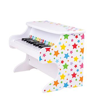 Bigjigs Toys Wooden Kids Table Top Piano - Children's Musical Instruments