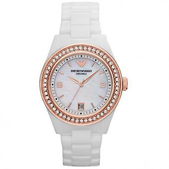 Emporio Armani Ar1472 últimas ceramica White Ladies Watch