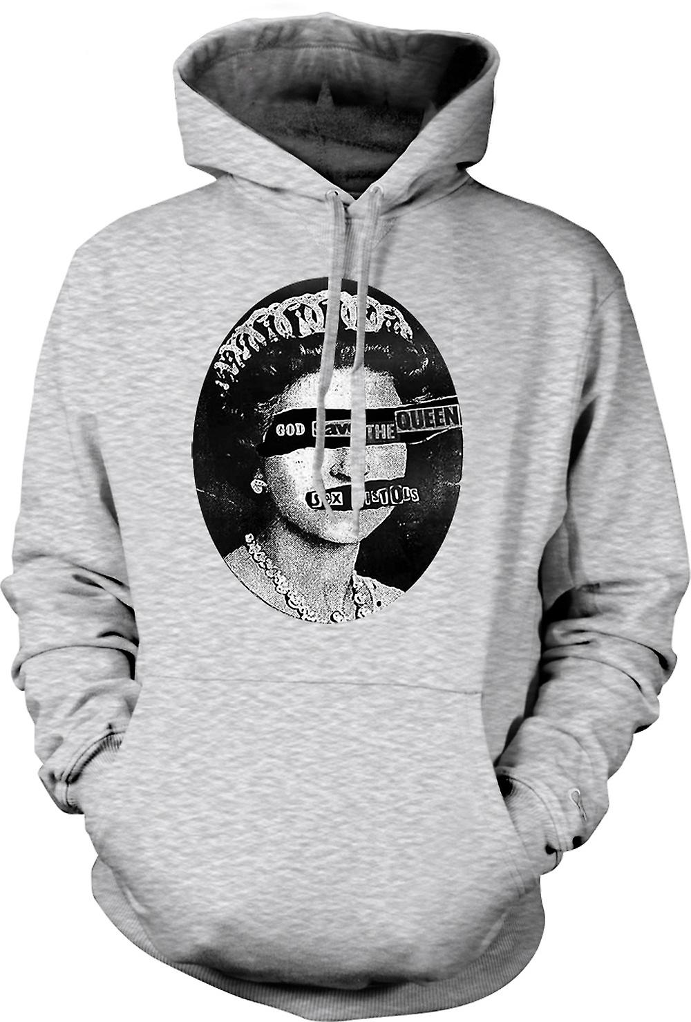 Mens Hoodie - God Save The Queen - Punk