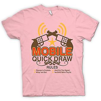レディース t シャツ - モバイルのクイック ドローのルール - おかしい