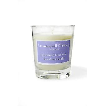Lavender & geranium (essential oil) soy wax votive candle