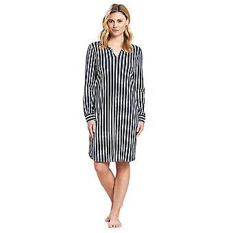 Feraud 3191131-11673 Women's Casual Chic Green Forest Cotton Sleep Shirt Nighty Nightshirt
